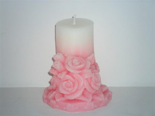 Lumanari Decorative Cilindru Cu Trandafiri